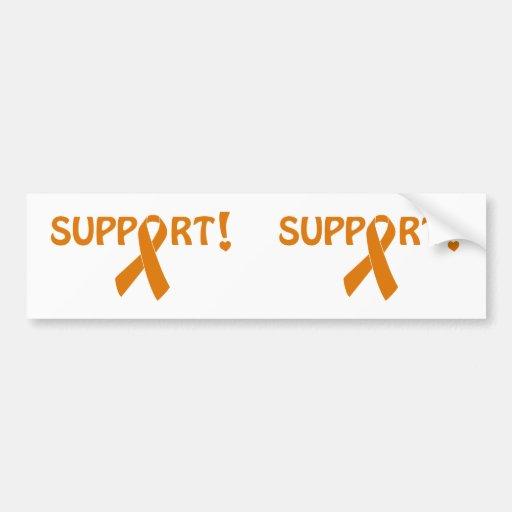 Orange Ribbon Support! Bumper Stickers