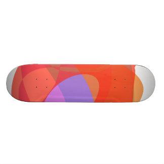 Orange Ring Skate Board Deck