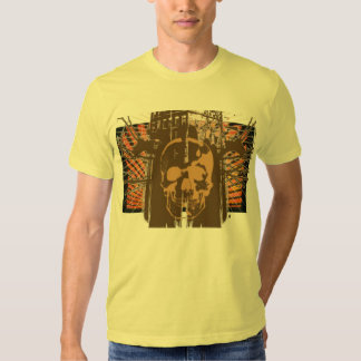 Orange Rising Sun Skull T-shirt - ... - Customized
