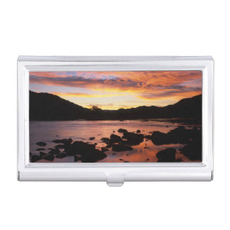 Orange River At Sunset, Richtersveld National Business Card Holder
