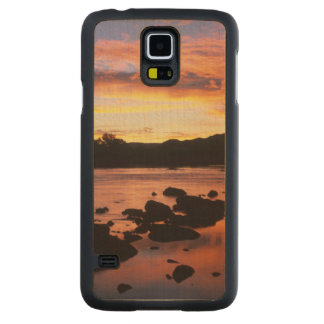 Orange River At Sunset, Richtersveld National Carved Maple Galaxy S5 Case