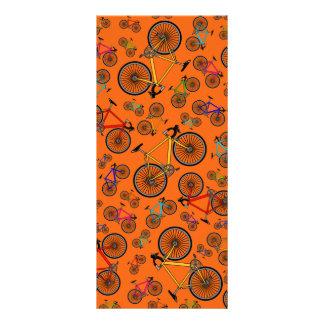 Orange road bikes full color rack card