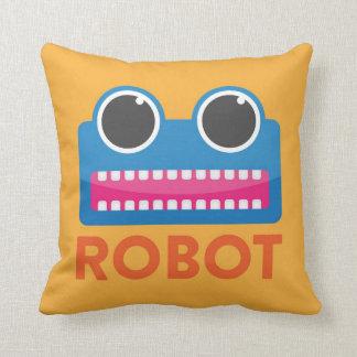 Orange Robot Pillow