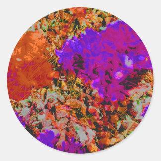 orange rock2.jpg round sticker