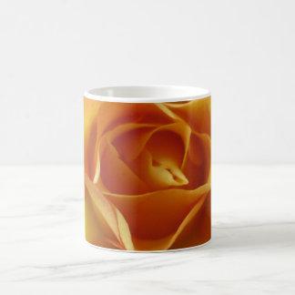 Orange rose basic white mug