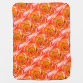 Orange Rose Close-up Baby Blanket