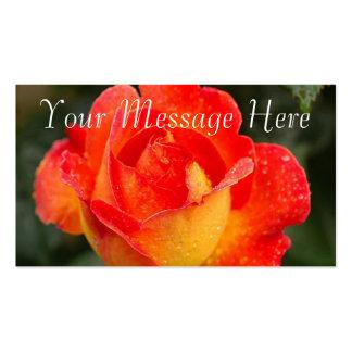 Orange Rose Floral Business Card