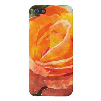 Orange Rose Flower Cover For iPhone 5/5S