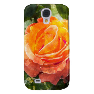 Orange Rose Flower Galaxy S4 Case