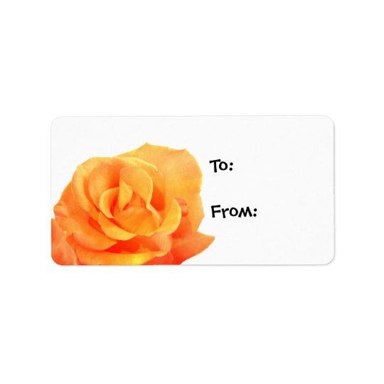 Orange Rose Gift Tags Address Label