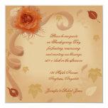 Orange Rose in the Fall Invitation 13 Cm X 13 Cm Square Invitation Card