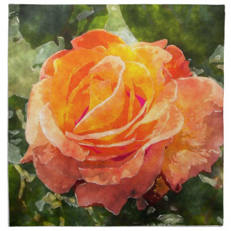 Orange Rose Napkin