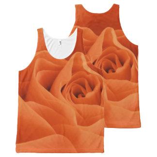 Orange Rose Petals All-Over Print Tank Top