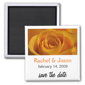 Orange Rose | Save the Date Square Magnet
