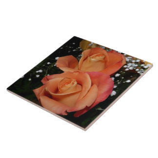Orange Rose Tile
