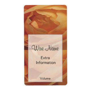 Orange Rose Wine Label