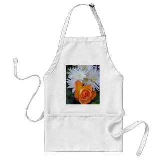 Orange Rose with White Flowers Standard Apron