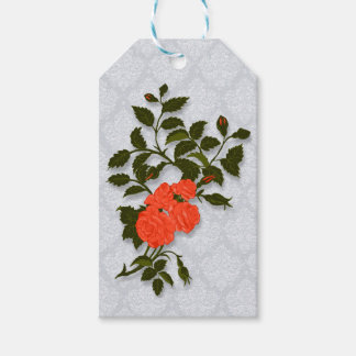 Orange Roses Branch Gift Tags