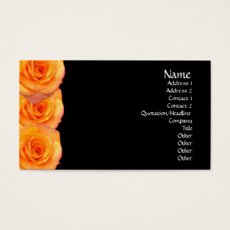 Orange Roses Business Card