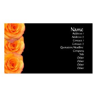 Orange Roses Business Card
