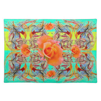 Orange Roses by Alexandra Cook Place Mat