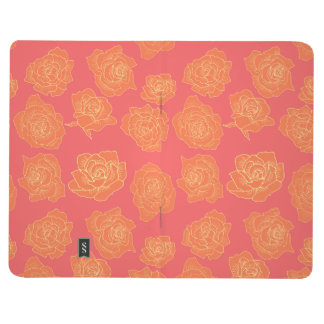 Orange roses on pink background journal