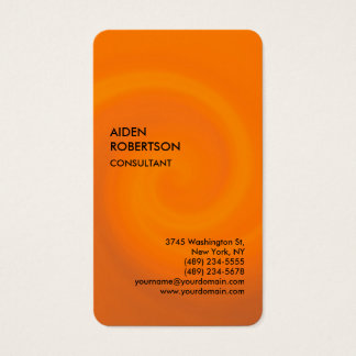 Orange Rounded Exclusive Special Modern Unique Business Card