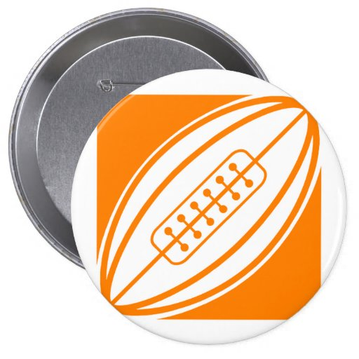 Orange Rugby Buttons