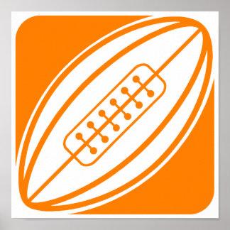 Orange Rugby Poster