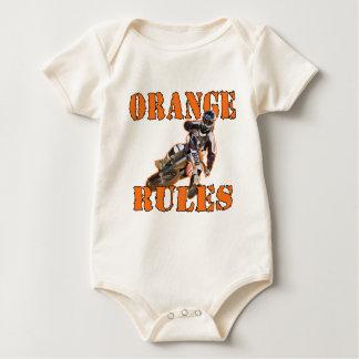 Orange Rules Baby Bodysuit