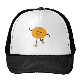 orange runner mesh hats