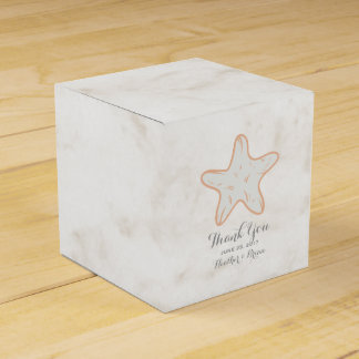 Orange Rustic Starfish Wedding Wedding Favour Boxes
