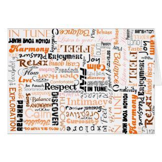 Orange Sacral Chakra Positive Affirmations Greeting Card