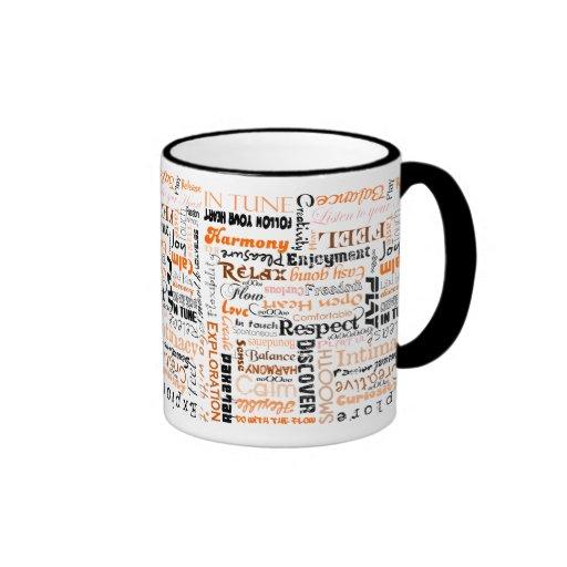 Orange Sacral Chakra Positive Affirmations Mug