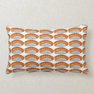 Orange Salmon Nigiri Sushi Japanese Food Pillow