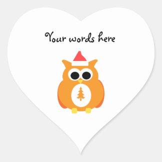 Orange santa owl stickers