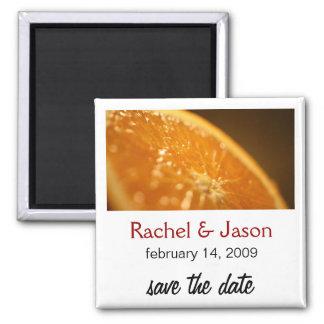 Orange | Save the Date Square Magnet