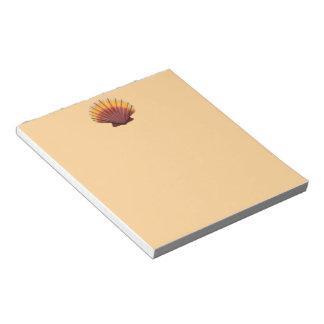 Orange Scallop Shell Notepad
