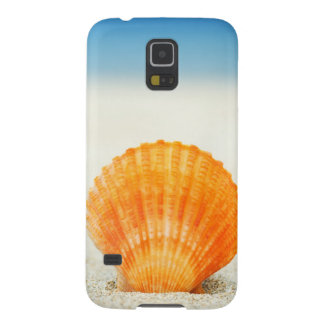 Orange Scallop Shell Standing Upright In Sand Galaxy S5 Case