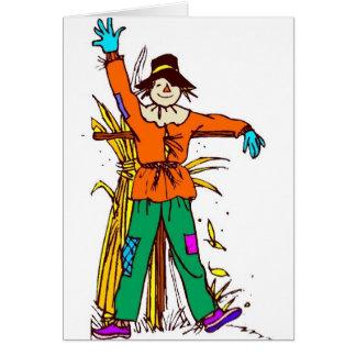 Orange Scarecrow Card
