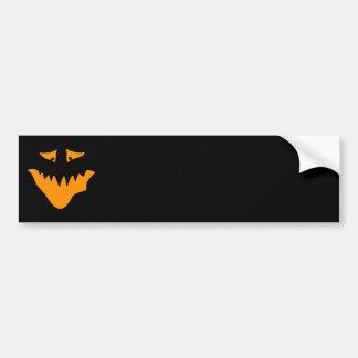 Orange Scary Face. Monster. Bumper Sticker