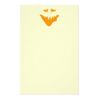 Orange Scary Face Monster Customized Stationery
