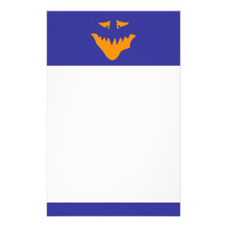 Orange Scary Face Monster Personalized Stationery