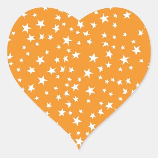 Orange Scattered Stars Sticker