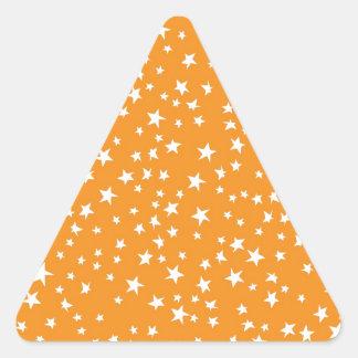 Orange Scattered Stars Stickers