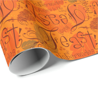 Orange Scatterletter Feast Paper