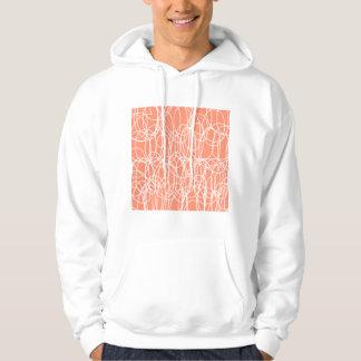 Orange Scribble Hoodie