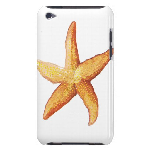 Orange Sea Star, Starfish Barely There iPod Cases
