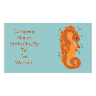 Orange Seahorse Business cards
