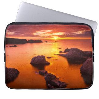 Orange seascape, sunset, California Laptop Sleeve